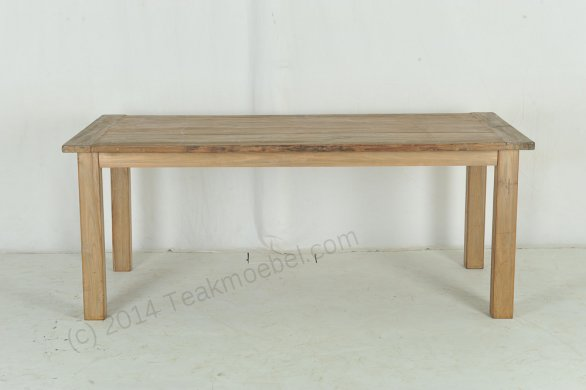Teak Tisch aus altem Holz 200 x 90 cm - Bild 4