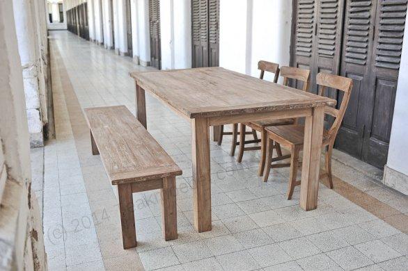 Teak Tisch aus altem Holz 200 x 90 cm - Bild 5