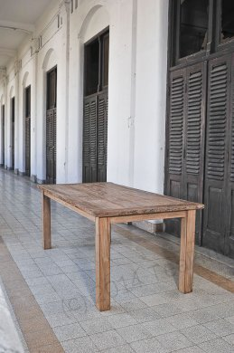 Teak Tisch aus altem Holz 200 x 90 cm - Bild 3