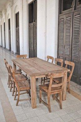 Teak Tisch aus altem Holz 200 x 90 cm - Bild 2