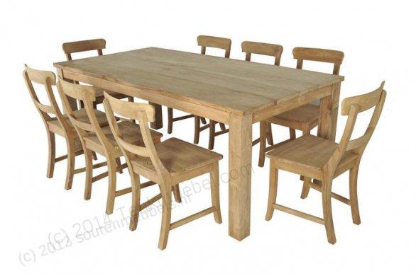 Teak Tisch 200 x 90 cm - Bild 0