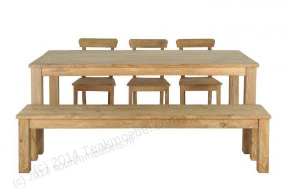 Teak Tisch 200 x 90 cm - Bild 1