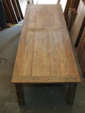 Teak Tisch altes Holz 350 x 120 cm - Bild 3