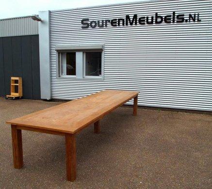 Teak Tisch altes Holz 450 x 120 cm - Bild 0