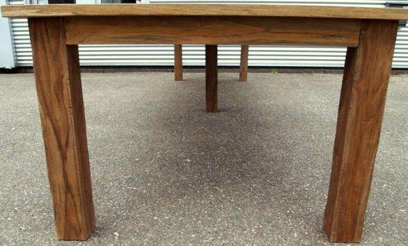 Teak Tisch altes Holz 450 x 120 cm - Bild 4
