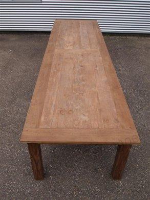 Teak Tisch altes Holz 450 x 120 cm - Bild 7