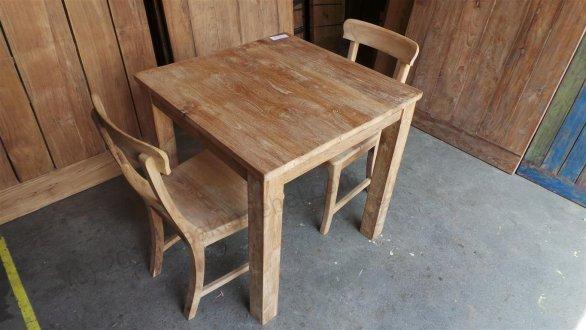 Teak Tisch 80 x 80 cm - Bild 4