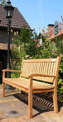Teak Holz Gartenbank 150 cm Beaufort - Bild 3
