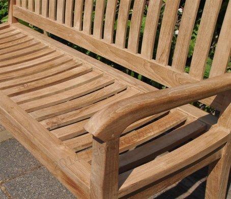 Teak Holz Gartenbank 150 cm Beaufort - Bild 2