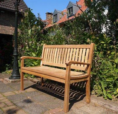 Teak Holz  Gartenbank 130 cm Beaufort - Bild 3