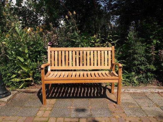 Teak Holz  Gartenbank 130 cm Beaufort - Bild 2
