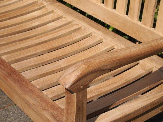 Teak Holz  Gartenbank 130 cm Beaufort - Bild 1