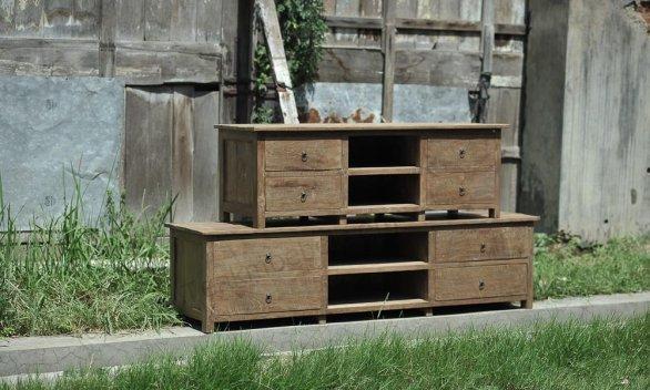 teak tv board rustikal 200cm teakm. Black Bedroom Furniture Sets. Home Design Ideas