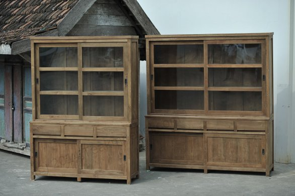 teak schrank 160cm modern. Black Bedroom Furniture Sets. Home Design Ideas