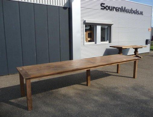 Teak Tisch altes Holz 400 x 100 cm - Bild 0