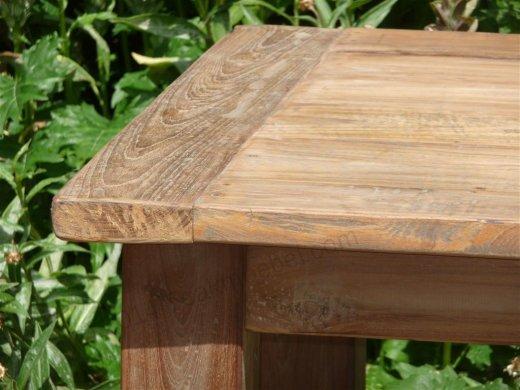 Teak Tisch aus altem Holz 140 x 90 cm - Bild 1