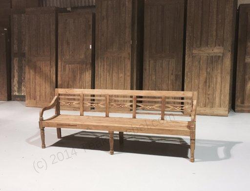 Teak Holz Bahnhofbank 240cm - Bild 3