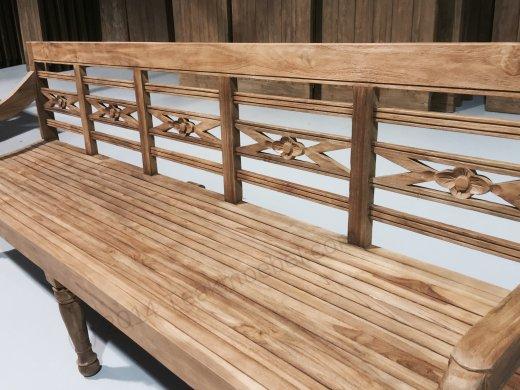 Teak Holz Bahnhofbank 240cm - Bild 7