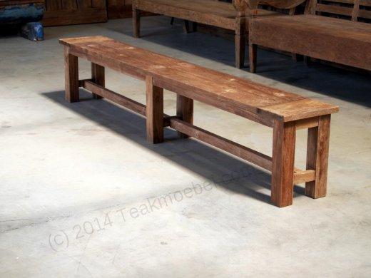 teak gartenbank ohne lehne 260cm. Black Bedroom Furniture Sets. Home Design Ideas