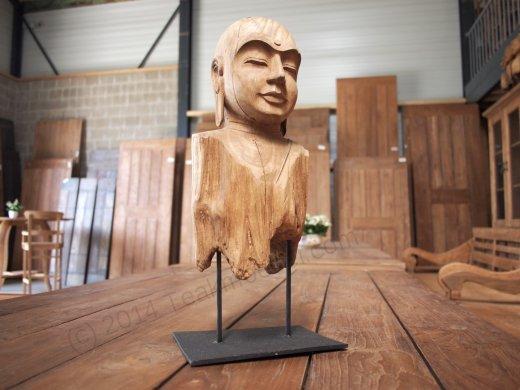 Teakholz Buddha - Bild 1