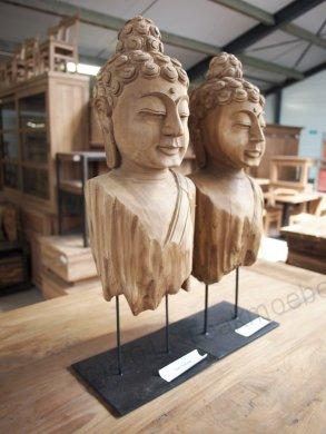 Teakholz Buddha - Bild 2