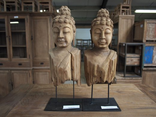 Teakholz Buddha - Bild 3