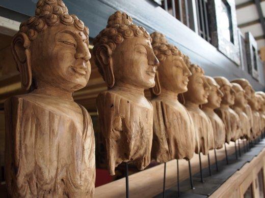 Teakholz Buddha - Bild 5