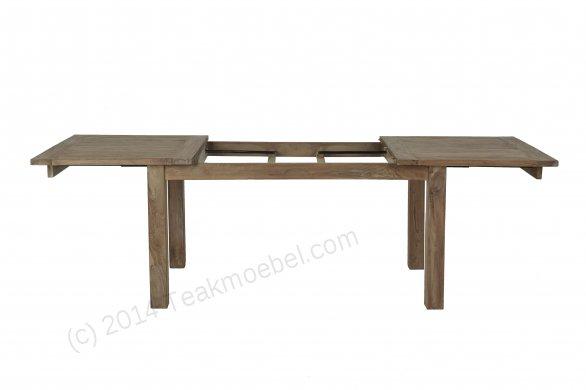 Teak Esstisch Ausziehbar 160-210-260x90 + 10 Stühle - Bild 2