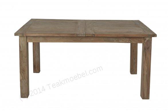 Teak Esstisch Ausziehbar 160-210-260x90 + 10 Stühle - Bild 1
