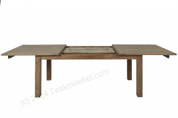 Teak Esstisch Ausziehbar 200-250-300x100 + 12 Stühle - Bild 2