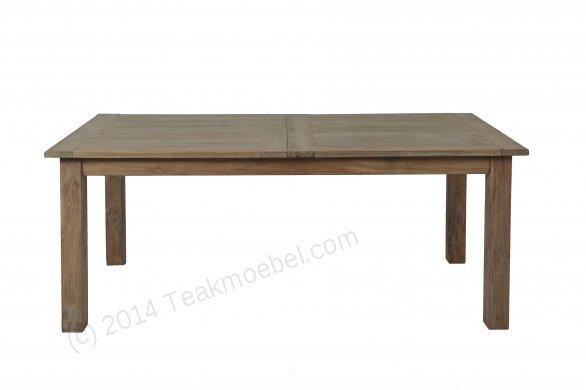 Teak Esstisch Ausziehbar 200-250-300x100 + 12 Stühle - Bild 1