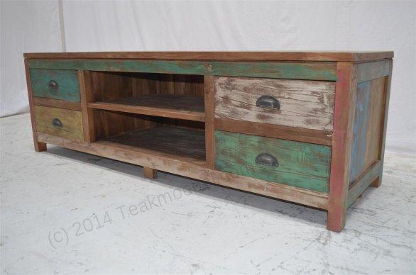 teak fernsehm bel paint 160x50x50cm. Black Bedroom Furniture Sets. Home Design Ideas