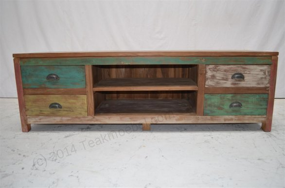 Sideboard Fernsehmöbel teak fernsehmöbel paint 160x50x50cm teakmöbel com
