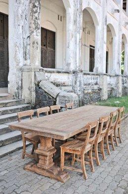 Teak Klostertisch 300x100cm + 8 Stühle - Bild 2