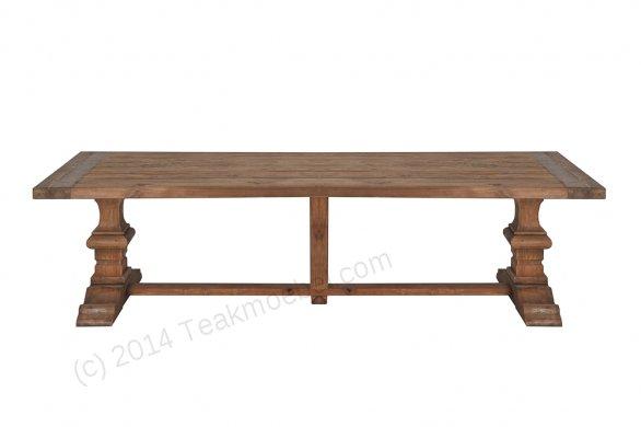 Teak Klostertisch 300x100cm + 8 Stühle - Bild 6