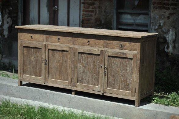 Dingklik Set: Tisch 300x100cm + 10 Stühle + Sidetable + Sideboard - Bild 2
