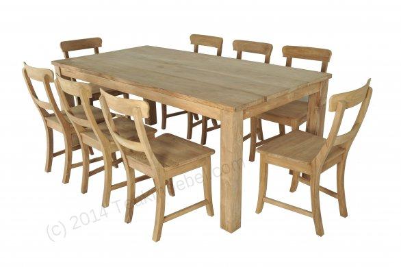 Teak Tisch 200x100cm + 8 Stühle - Bild 0