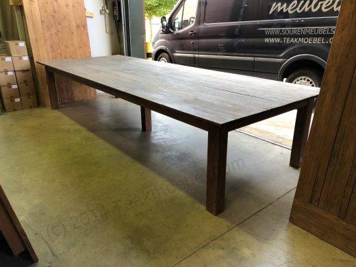 Teak Tisch Antik 400x150cm - Bild 2