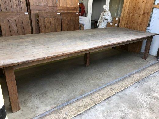 Teak Tisch Antik 400x150cm - Bild 4