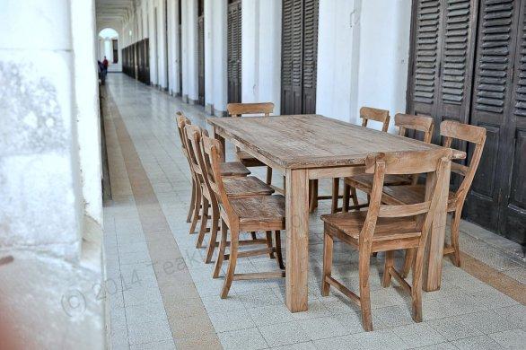 Teak Tisch Dingklik 200x100 + 8 Stühle - Bild 3
