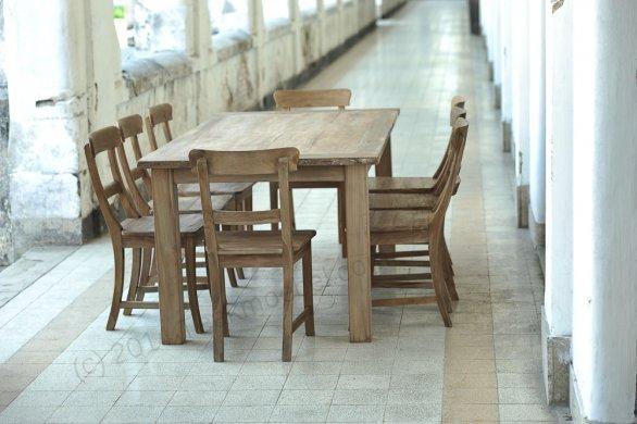 Teak Tisch Dingklik 200x100 + 8 Stühle - Bild 2