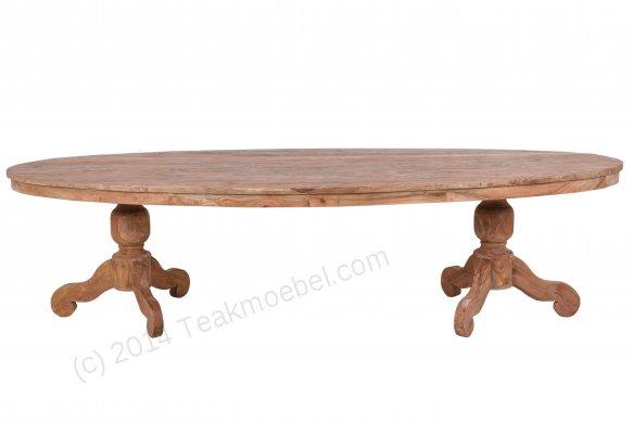 Teak Tisch oval 300x120cm - Bild 0