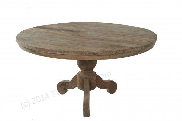 Teak Tisch rund Dingklik 140 + 6 Stühle - Bild 1