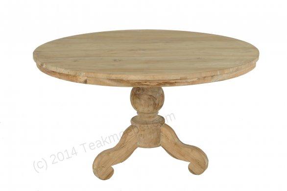 Teak Tisch rund 140 + 6 Stühle - Bild 1