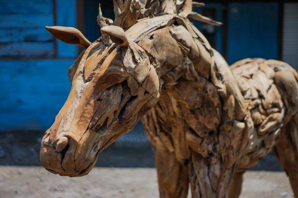 Teakholz Pferd XL - Bild 1