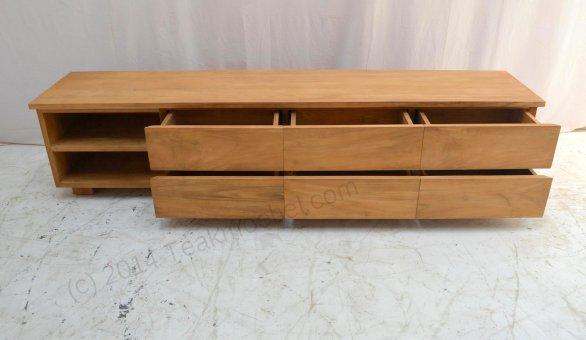 teak fernsehmoebel 220cm massanfertigung teakm. Black Bedroom Furniture Sets. Home Design Ideas