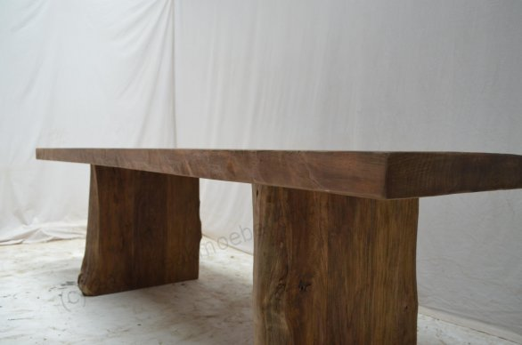 Teakholz Baumstamm Tisch 180 - Bild 0