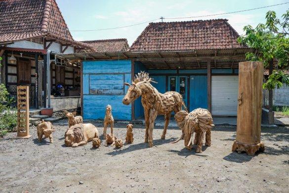 Teakholz Pferd XL - Bild 4