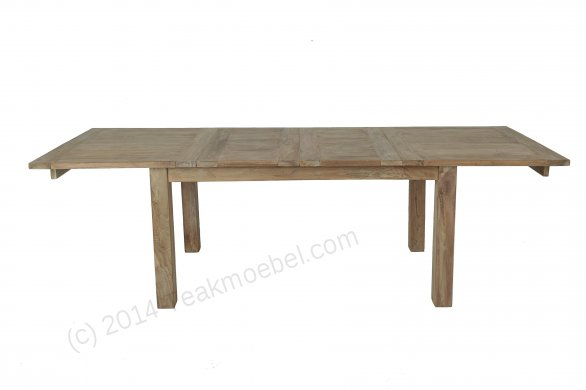 teakholz tisch ausziehbar 160 210 260x90. Black Bedroom Furniture Sets. Home Design Ideas
