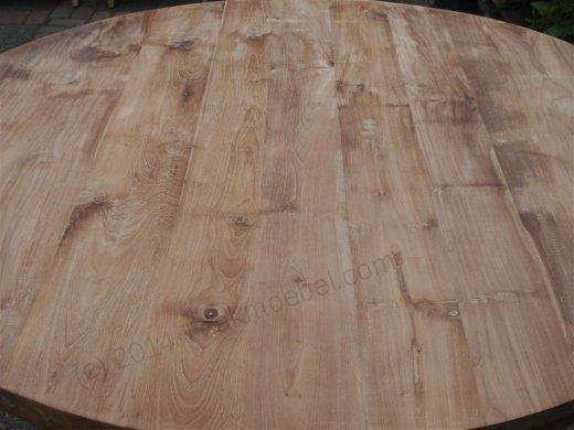 Teak Tisch rund 140 + 6 Stühle - Bild 2